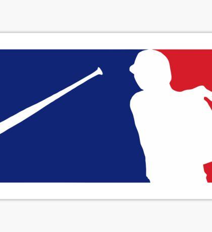 Jose Bautista bat flip MLB logo Sticker