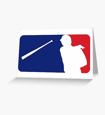 Jose Bautista bat flip MLB logo Greeting Card