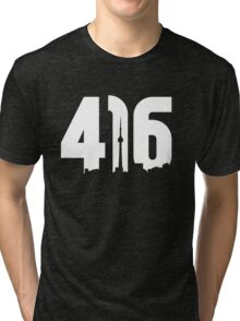 416 logo with Toronto skyline Tri-blend T-Shirt