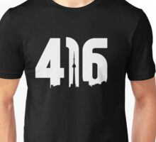 416 logo with Toronto skyline Unisex T-Shirt