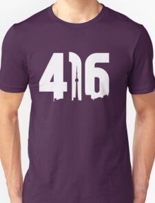 416 logo with Toronto skyline T-Shirt
