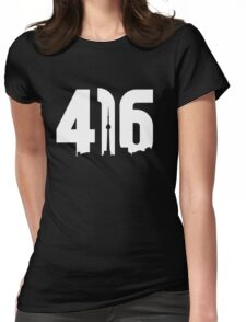416 logo with Toronto skyline Womens Fitted T-Shirt