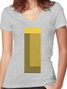 """""""bumble bee"""" abstract Women's Fitted V-Neck T-Shirt"""