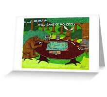 WILD GAME OF MONOPOLY Greeting Card