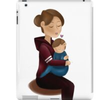 Mom and son  iPad Case/Skin