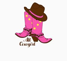 All Cowgirl Womens Fitted T-Shirt