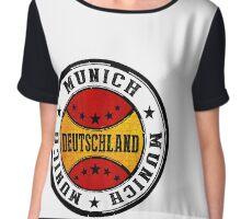 Stamp Of Munich Chiffon Top
