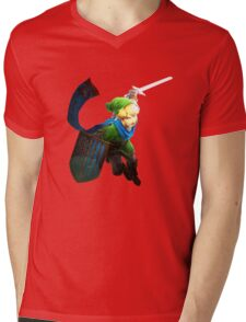 the legend of Zelda - Link fight Mens V-Neck T-Shirt