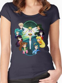 Sailor moon Sailor Stars Women's Fitted Scoop T-Shirt