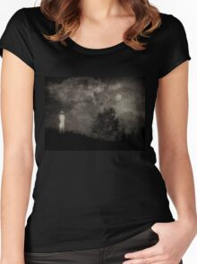 The Watcher in the Woods Women's Fitted Scoop T-Shirt