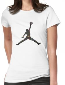 Toronto Raptors basketball silhouette Womens Fitted T-Shirt