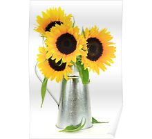 Sunflowers Bouquet. Poster
