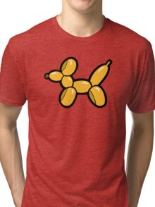 Balloon Animal Dogs Pattern in Red Tri-blend T-Shirt