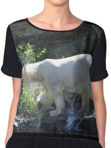 Polar bear water print Chiffon Top