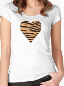 0614 Sandy Brown Tiger Women's Fitted Scoop T-Shirt