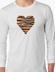 0614 Sandy Brown Tiger Long Sleeve T-Shirt