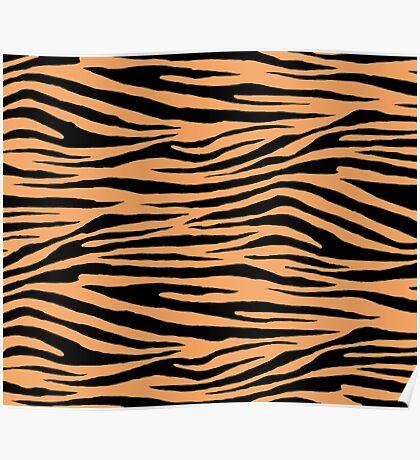 0614 Sandy Brown Tiger Poster