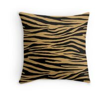 0615 Aztec Gold Tiger Throw Pillow