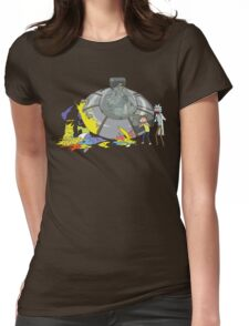 Rick and Morty Crash Gag Womens Fitted T-Shirt