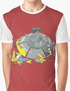 Rick and Morty Crash Gag Graphic T-Shirt