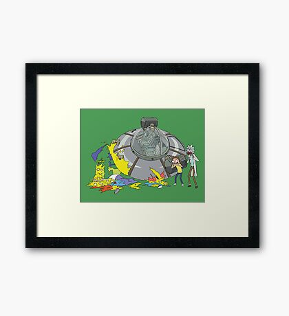 Rick and Morty Crash Gag Framed Print