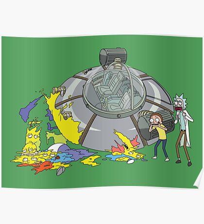 Rick and Morty Crash Gag Poster