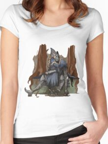 Artorias and Ciaran Women's Fitted Scoop T-Shirt