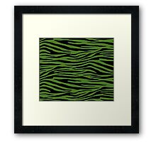 0616 Sap Green Tiger Framed Print