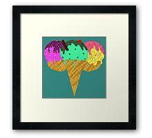 Three Scoop Cone Framed Print