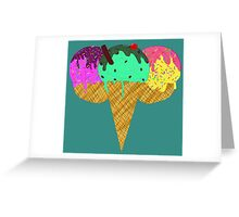 Three Scoop Cone Greeting Card
