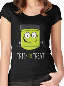 Frankenstein Trick or Treat Women's Fitted Scoop T-Shirt