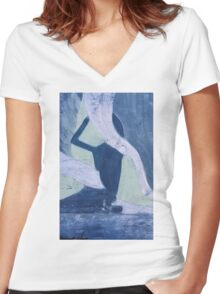 The Supplicant Women's Fitted V-Neck T-Shirt