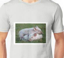 Three White Sleeping Piglets Unisex T-Shirt