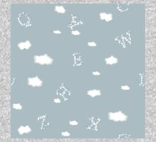 Alphabet Clouds - Baby Blue Sky One Piece - Long Sleeve