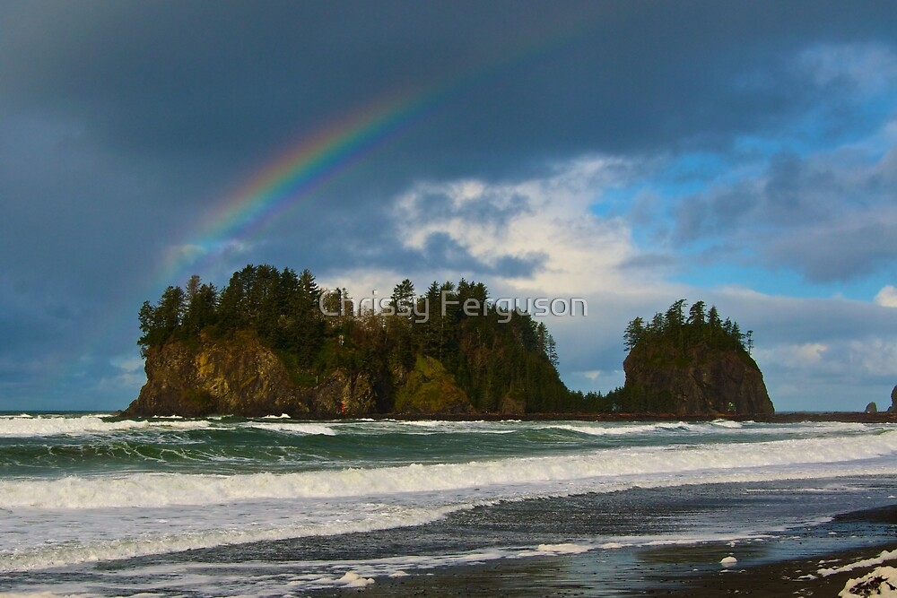 Rainbow Over the Sea by GoddessChrissy