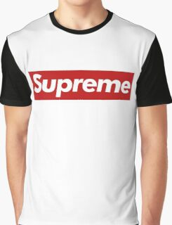 Supreme Logo - Large Size Graphic T-Shirt