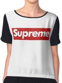 Supreme Logo - Large Size Chiffon Top