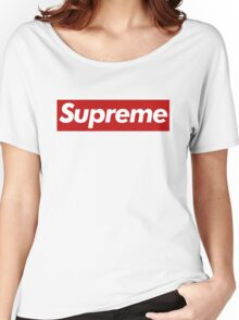 Supreme Logo - Large Size Women's Relaxed Fit T-Shirt