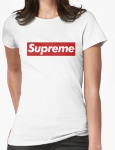 Supreme Logo - Large Size Womens Fitted T-Shirt