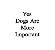 Yes Dogs Are More Important  by supernova23