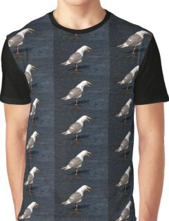 Seagull Mouth Open Graphic T-Shirt