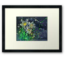 Neon Daffodils Framed Print