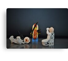 Hot Dog Samurai Canvas Print