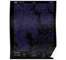 USGS TOPO Map Alabama AL Doran Cove 20111013 TM Inverted Poster