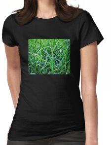 Dewy Grass  Womens Fitted T-Shirt