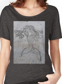 Mermaid Sand Drawing Women's Relaxed Fit T-Shirt