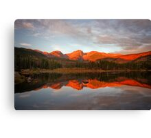 Morning on Sprague Lake Canvas Print