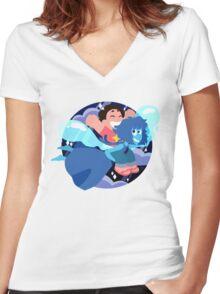 Beach Summer Fun Buddies Women's Fitted V-Neck T-Shirt