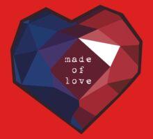 Garnet--Made of Love Kids Tee