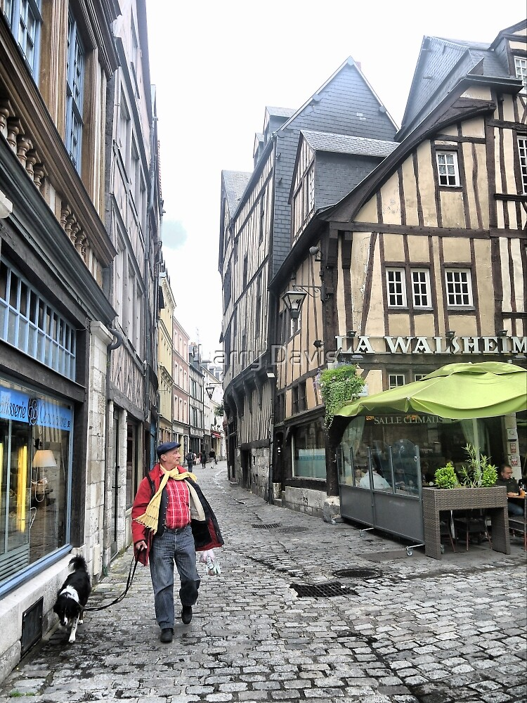 The Streets of Rouen ( 3 ) by Larry Lingard-Davis